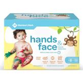 Toalhas Umedecidas Hands & Face Member's Mark Caixa Pack com 5 Pacotes 20 Unidades Cada Embalagem Econômica