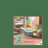 Bloco de Notas Adesivas Post-it 3M Pacote com 450 Folhas de 76x76 Cores Sortidas