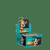 Barra de Cereal Banana + Damasco + Nozes Zero Açúcares &Joy Caixa 12 Unidades de 25g Cada