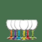 Conjunto de Taças para Gin com Base Colorida Lav Caixa com 6 Unidades