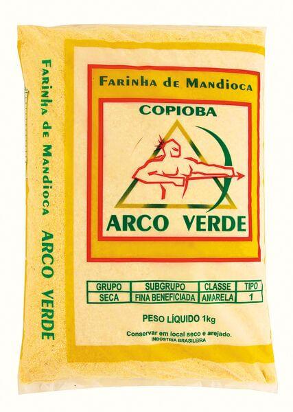 Farinha-de-Mandioca-Tipo-1-Amarela-Arco-Verde-Pacote-1kg
