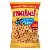 Biscoito Doce Rosquinhas Sabor Leite Mabel Pacote 900g Pacote Família