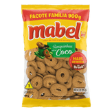 Biscoito Doce Rosquinhas Sabor Coco Mabel Pacote 900g Pacote Família