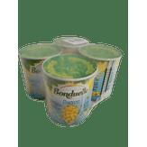 Milho Verde em Conserva Suave Bonduelle Lata Pack com 4 Unidades de 200g Cada