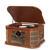 Vitrola com Toca-Discos Rádio FM, CD, USB, SD Card, Bluetooth Raveo Spazio