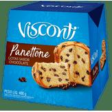 Panettone com Gotas de Chocolate Visconti Caixa 400g