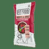 Biscoito de Arroz Chocolate Meio Amargo Zero Açúcar e Glúten Free Fit Food Pacote 60g