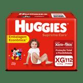 Fralda Descartável Infantil Supreme Care XG Huggies Pacote com 112 Unidades