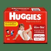 Fralda Descartável Infantil Supreme Care XXG Huggies Pacote com 112 Unidades