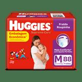 Fralda Descartável Infantil Roupinha Supreme Care M Huggies Pacote com 88 Unidades Embalagem Econômica