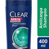 Shampoo 2 em 1 Anticaspa Men Limpeza Diária Clear Frasco 400ml