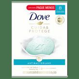 Sabonete Antibacteriano Cuida e Protege Dove Pack com 8 Unidades 90g Cada