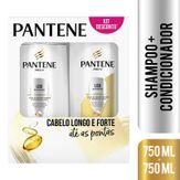 Shampoo + Condicionador Liso Extremo Pantene Kit com 2 Unidades 750ml Cada