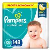 Fralda Descartável Infantil Confort Sec XG Pampers Pacote com 148 Unidades Pacote Econômico