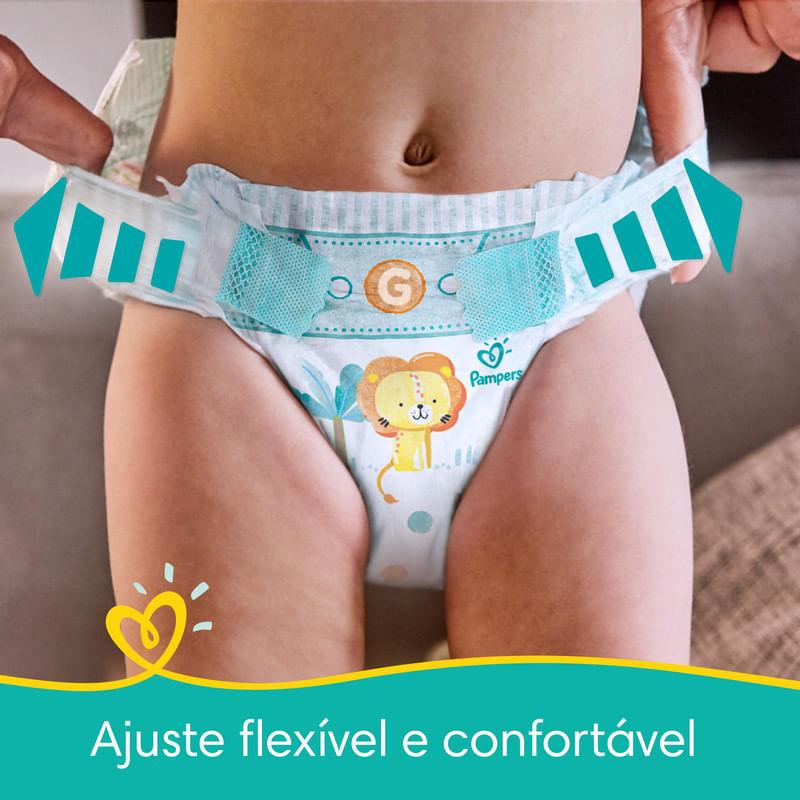 Fralda-Descartavel-Infantil-Confort-Sec-G-Pampers-Pacote-com-168-Unidades-Pacote-Economico
