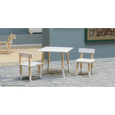 Conjunto Infantil Scandi Branco Mesa e Cadeira Member's Mark